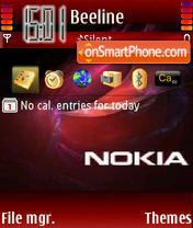 Nokia 7614 theme screenshot