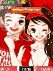 Red Lovers theme screenshot