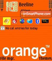 Orange 09 es el tema de pantalla