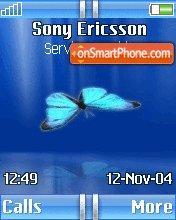 Butterfly Blue es el tema de pantalla
