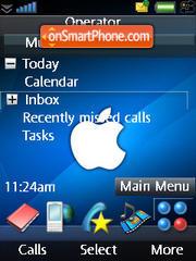 iPhone Blue Apple theme screenshot