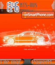 Mustang Orange es el tema de pantalla