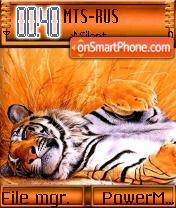 Resting Tiger theme screenshot