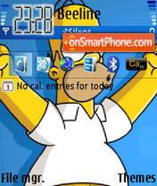 Homer 01 es el tema de pantalla