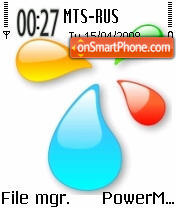 XP Drops S60v2 es el tema de pantalla
