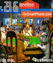 Poker Dogs es el tema de pantalla
