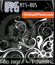 Black Flowers S60v2 theme screenshot
