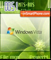 Vista Leaf S60v2 theme screenshot