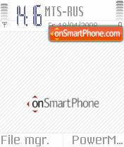 OnSmartPhone S60v2 theme screenshot