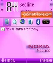 Nseries pink theme screenshot