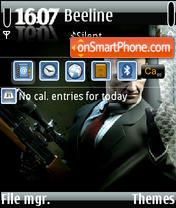 Hitman Snipers QVGA theme screenshot