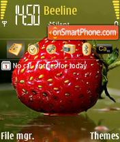 Strawberry theme screenshot