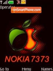 Nokia 7373 Music theme screenshot