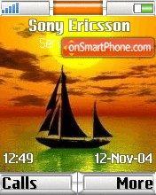 Sunset Boat es el tema de pantalla