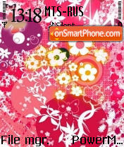 Floral S60v2 es el tema de pantalla