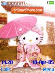 Hello Kitty 18 theme screenshot