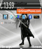Sephiroth 01 theme screenshot