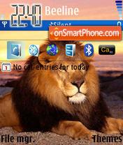 Lion 09 es el tema de pantalla