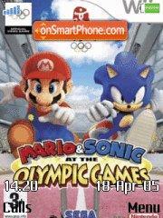 Mario And Sonic es el tema de pantalla