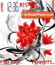 Abst Red Flower es el tema de pantalla