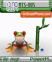 Crystal Frog es el tema de pantalla