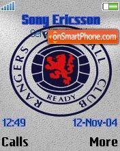 Glasgow Rangers FC theme screenshot