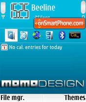 MOMOdesign es el tema de pantalla