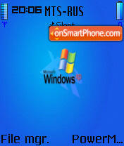 Wxpblue theme screenshot
