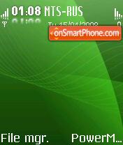 Glossy Green S60V2 es el tema de pantalla