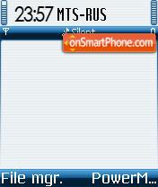 Symbian OS 02 es el tema de pantalla