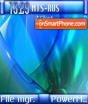 Blue Works es el tema de pantalla