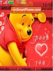 Pooh Luvs U theme screenshot