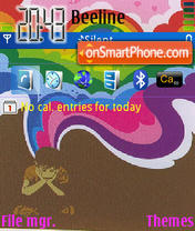 Colored Emo Boy theme screenshot