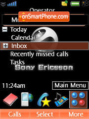 Sony Ericsson theme screenshot