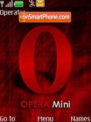 Opera Mini es el tema de pantalla