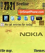 Nokiayellow theme screenshot