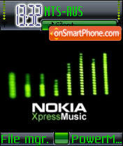 Nokia Express Music theme screenshot