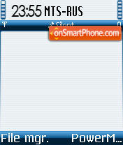 Symbian OS DI theme screenshot