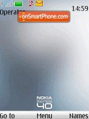 Nokia White S40 theme screenshot