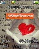 Love Paper es el tema de pantalla