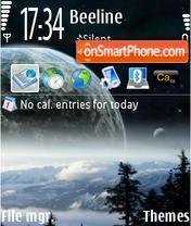 Space Illusion theme screenshot