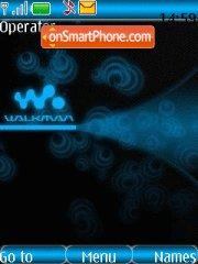 Blue walkman theme screenshot