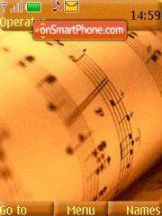 Musical Note theme screenshot
