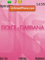 Dolce Gabbana Pink theme screenshot