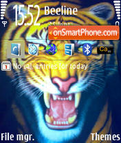 Tiger 240x320 tema screenshot