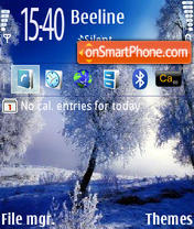Winter 240x320 tema screenshot