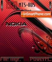 Red Carbon Nokia theme screenshot