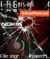 Broken Nokia theme screenshot