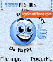 Be Happy es el tema de pantalla