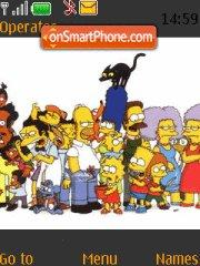 Simpsons theme screenshot